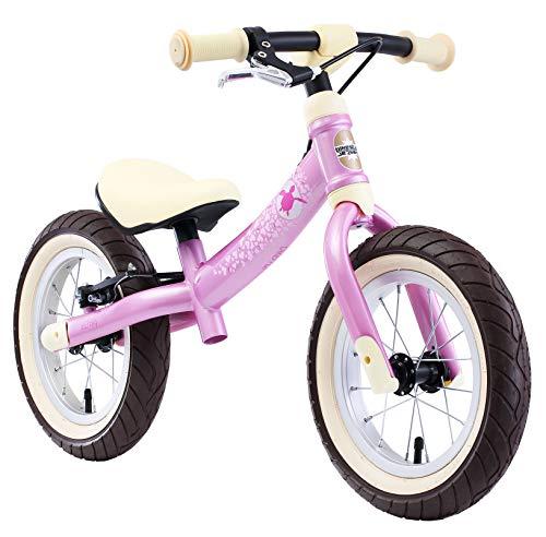 BIKESTAR Mitwachsendes Kinder Laufrad Lauflernrad Kinderrad für Mädchen ab 3-4 Jahre | 12 Zoll Flex Sport Kinderlaufrad Pink | Risikofrei Testen
