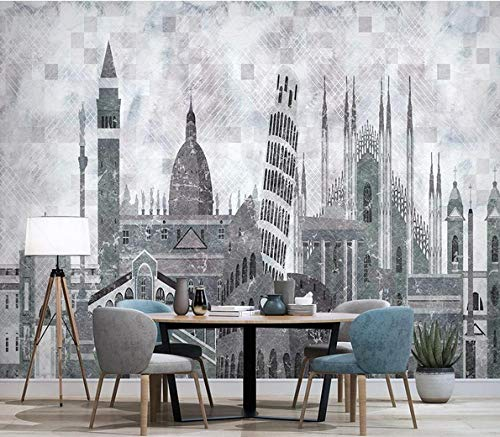 Non-woven photo Wallpaper-Modern丨Concise丨City丨Architecture丨Geometry丨-Wall decal Mural Bedroom Room living Room library office Decor Painting-300cmx210cm