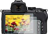 KOMET - Protector de pantalla para cámara Nikon Z 50 z50 DX-Format [3 unidades], vidrio templado Flim antiburbujas, antihuellas dactilares, antiarañazos, antipolvo