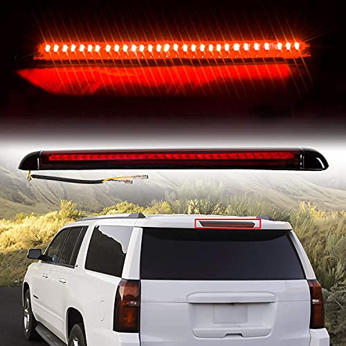HECASA New Roof Mount 3rd Third Brake Tail Light Lamp Compatible with 1992-2004 Chevy Suburban GMC Yukon / 1995-2000 Chevy Tahoe / 1992-1999 GMC Suburban