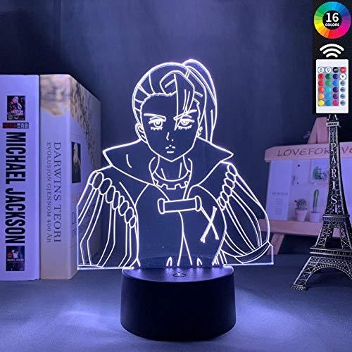 The Seven Deadly Sins Jericho Led Luz Noturna Para Home Bedroom Decor Manga Mood Luz Anime Mesa Lâmpada 3D Jericho Gadget-With_Remote