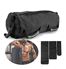Idea Regalo - PELLOR Sandbag, Fitness Training Power Bag Sacca Allenamento 0-27 kg, Perfetta per Migliorare Equilibrio Functional Training e Potenziamento Muscolare