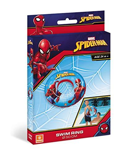Mondo - 16899 Toys-Spiderman Swim Ring - Rosquilla Hinchable - Anillo de natación Salvavidas - Ideal para niña - Se Puede Utilizar en Piscina/mar - 16899, Multicolor, 16899