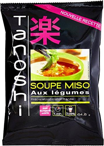 Tanoshi Soupe Miso instantanée Légumes et Wakamé - 1 paquet 64,8 g