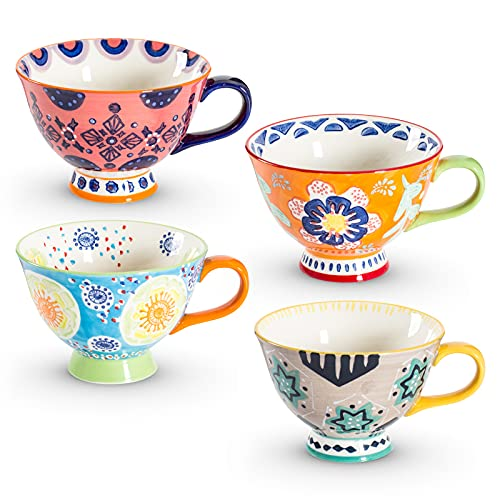 Coffee Mug Sets of 4, Lareina Cute Coffee Mugs