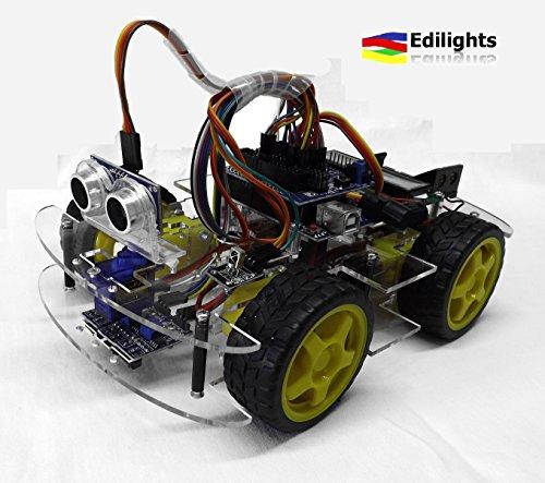 Edilights - KIT ROBOT SMART CAR MULTIFUNZIONE ARDUINO COMPATIBILE