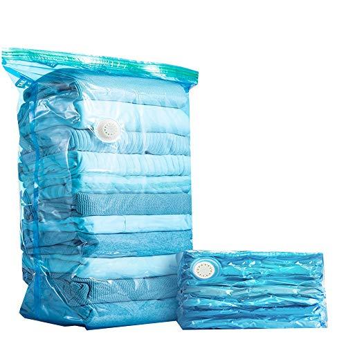 Compression Bag Vacuum opbergzakken Duurzaam en herbruikbaar Space Saver Tassen Works for kleding Dekbedden Kussens deken en beddengoed Gratis Travel handpomp (Color : A)