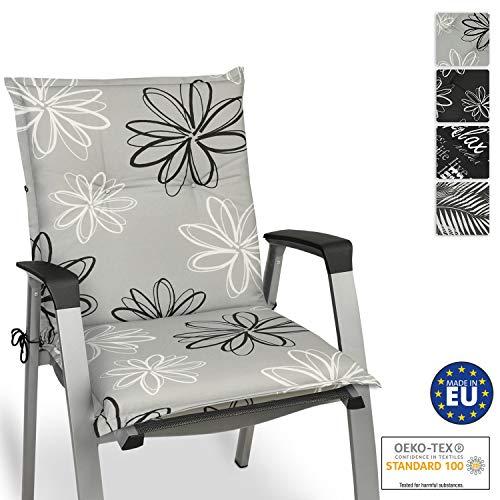 Beautissu Matelas Coussin pour Chaise Fauteuil de Jardin terrasse Floral 100x50x6cm - Design Flower