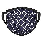 Copertura del fronte del quadrato blu del MDFE con il gancio elastico dell'orecchio, sciarpa riutilizzabile lavabile della protezione del filtro per il comfort di modo