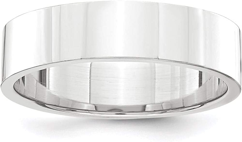 Platinum 5mm Flat Size 11 Wedding Ring Band Classic Comfort Fit Fashion Jewelry For Women Gifts For Her