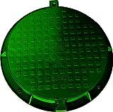 Couvercle de réservoir de regard - Charge jusqu'à 1,5 tonnes - 780 mm - Vert