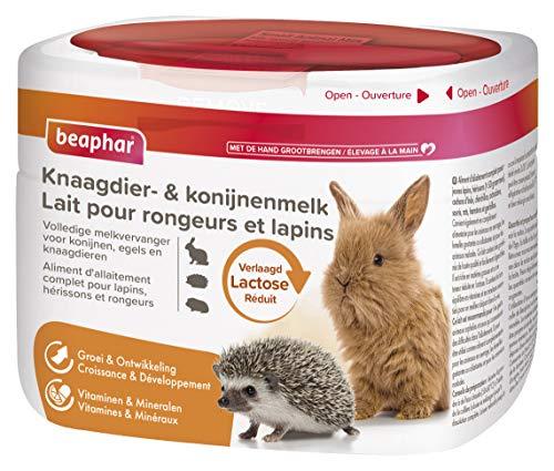 BEAPHAR – Lait maternisé en poudre pour rongeur et lapin – Aliment d'aliment complet – Teneur réduits en lactose – Croissance et Développement – Vitamines & Minéraux – 200g Lot de 3