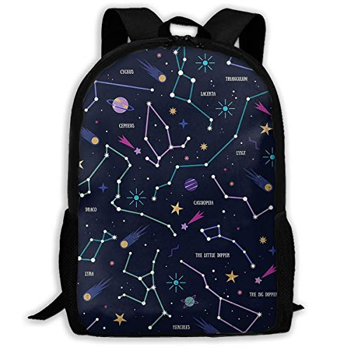 HOJJP Rucksack Travel Backpack Laptop Backpack Large Diaper Bag - Magical Astronomy Backpack School Backpack for Women & Men