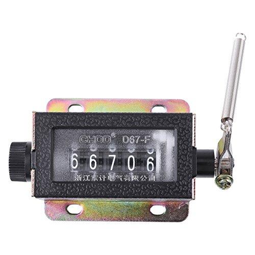 Handzähler, 1 Stück Zählwerk Hubzähler, ohne Batteriebetrieb Mechanischer Zähler Schrittzähler Handzähler klicker aus Metall