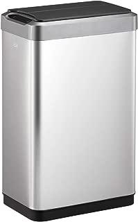 EKO Phantom-T 50 Liter / 13.2 Gallon Motion Sensor Kitchen Trash Can, Brushed Stainless Steel Finish