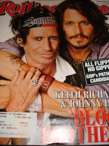 Rolling Stone Magazine Back Issue May 31, 2007 Keith Richards and Johnny Depp on Cover