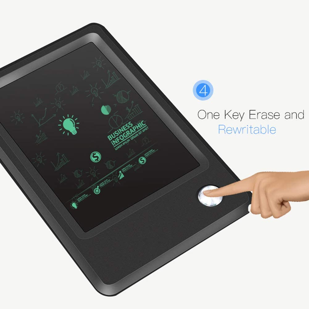Memo Pad Electronic Drawing Board with Pen for Office School Black 4.5 Portable Paperless Handwriting Pads FAgdsyigao LCD Writing Tablet