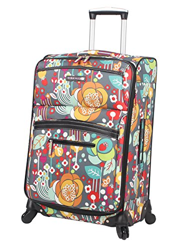 Lily Bloom Large Expandable Design Pattern Luggage With Spinner Wheels For Woman (28in, Bliss)
