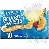 Capri Sun Roarin' Waters Tropical Tide Juice Drink, 40 Count (4 Boxes of 10 Pouches)