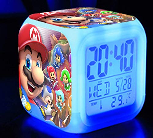 Súper mary timeframe Mario alarm súper mary Mario brothers Mario colorido brillante despertador regalo