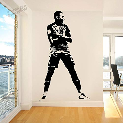 Fútbol Deportes Paris FC Saint PSG Germain Soccer Super Star Player Kylian Mbappé Etiqueta de la pared Vinilo Calcomanía para autos Niños Fans Dormitorio Sala de estar Club Decoración para e