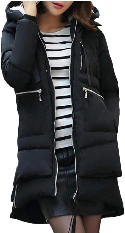 Gocgt Women's Winter Warm Loose Casual Outerwear Hooded Long Down Coat