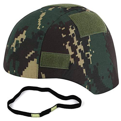 WTZWY Tactical Camouflage Mich 2000 Fast Helmet Cover con Banda para Casco Cat Eye, Accesorio para Casco para Deportes al Aire Libre Airsoft (sin Casco),Lute