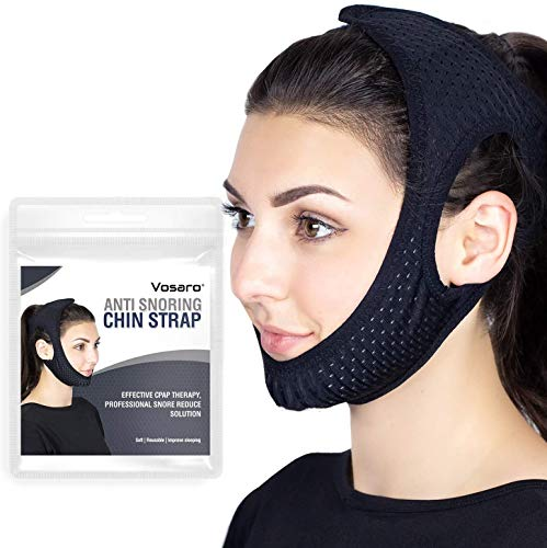 Anti Snoring Chin Strap for Snoring Solution, Vosaro Newest Chin Strap for Men Women, Adjustable and Breathable Stop Snoring Device for Snorers of All Ages, Snoring Sleep Aid
