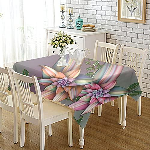 CYYyang Lino con Estilo Antimanchas Mantel Decorativo para Reuniones Familiares Tejido Estampado en Color Engrosado