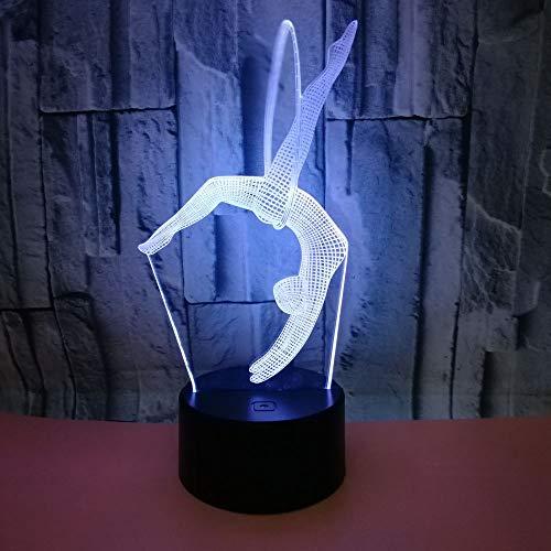 QTYUE Gymnastique 3dNight Lampe Lampe Cadeau Originalité Lampe Décorative 7 Couleur Petite Table 3d Luminaires, cadeau