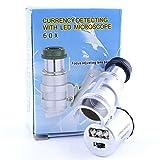 REY Lupa LED 60x, Microscopio Iluminado de Precisión con 60 Aumentos
