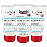 Eucerin Advanced Repair Hand Cream - Pack of 3, Fragrance Free, Hand Lotion for Very Dry Skin - Use After Washing With Hand Soap, Travel Size - 2.7 oz.