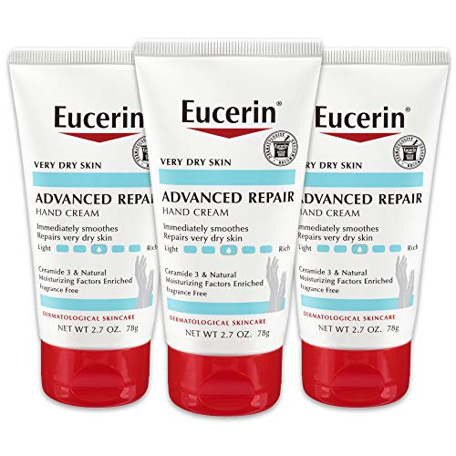 Eucerin Advanced Repair Hand Cream - Fragrance Free, Hand Lotion for Very Dry Skin - 2.7 oz...