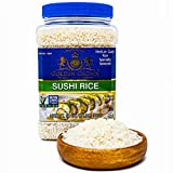 Golden Crown Sushi Rice Premium Quality Rice | Non-GMO Gluten-Free 100% Authentic Naturally Fragrant Sweet Flavorful | Medium Grain Rice for Vegetarian Daily Meals 32 Oz, 2 Lb