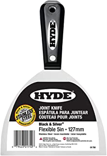 """Hyde 01750 5"""" Flexible Black and Silver Stainless Steel Hammer Head Joint Knife"""