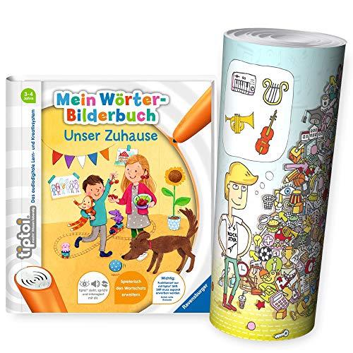 tiptoi Ravensburger Buch | Mein Wörter-Bilderbuch: Unser Zuhause + Wimmel-Such-Poster by Collectix