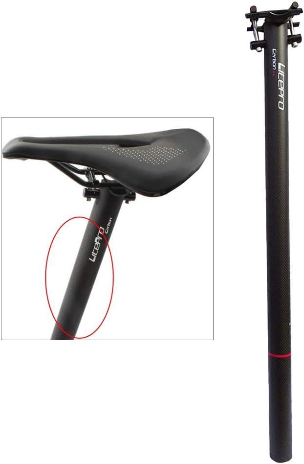 harayaa Folded Bike Glossy Matte 3K Full Carbon Fibre Folding Bicycle Seatpost Carbon Seatpost 33.9 580mm for Mountain Bike Fixed Gear Bike Seatpost
