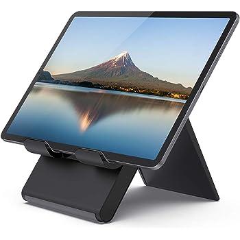折り畳み式タブレット スタンド, 12.9インチ対応, プラスチック Lomicall iPad用 stand : 卓上縦置きスタンド, タブレット置き台, ポータブル デスク台, 立てる, ホルダー 角度調整可能, 設置, アイフォン, アイパッド ミニ エア プロ, iPad, iPad mini, iPad Air, iPad Pro 9.7 10.2 10.5 11 12.9, S7 S8 Note 6, Kindle, Tab, Sony, Huawei MediaPadに対応