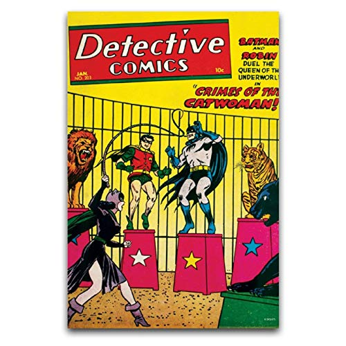 ZSBoBo Canva Paintings Picture, Crimes of The Catwoman, arte de lienzo para pared, para salón, habitación, decoración de paredes de oficina