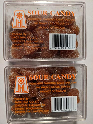 Tamarind - Sour Candy 100 grams ( Pack of 2 ) Product Of Thailand