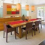 HOWAF Frohe Weihnachten Rentier Schneeflocke Tischläufer Rot Weihnachts Tischband Tischdecke für tischdeko Winter Weihnachtsdeko, Filz, (38 × 180 cm) - 4