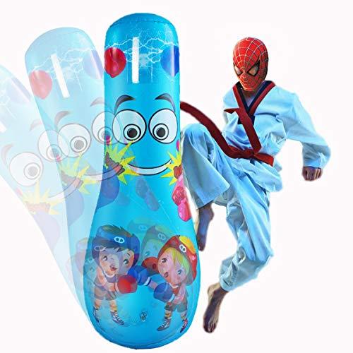 INF Inflatable Punching Bag for Kids,Free Standing Boxing Bag with Stand Free Standing for Practicing Karate,Taekwondo,MMA for Kids Children,Bop Bag for Boys & Girls, 49.2in