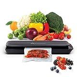 Hometastic Lebensmittel-Vakuumiergerät, kompakter Vakuumierer, zur luftdichten Versiegelung, Haltbarmachung und Lagerung von Lebensmitteln, Profiqualität