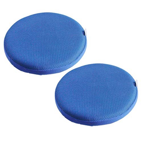 Amuzocity 2 Piezas Redonda Cubierta de Taburete Protector de Asiento de Silla Cover Cojín - Azul Re