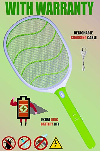 Weird Wolf(Formerly Viola) Wide Range Mosquito Killer Racket Bat Trap with Powerful Battery and Warranty