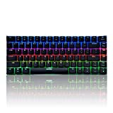 Docooler AJAZZ AK33 Teclado Mecánico Gaming RGB,E-Sport Teclado 82 Teclas USB Wired,100% Anti-ghosting para PC y Laptop (Interruptor Verde)