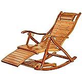 Diseña con cuidado, solo para romper lo extraordin Silla de cubierta - cubierta de balancín, madera, tumbona de sol plegable con reposapiés prolongado, respaldo ajustable, sillón de balcón