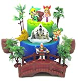 Legend of ZELDA Deluxe Birthday Cake Topper Set Featuring Zelda Characters and Decorative Themed Accessories