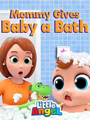 Mommy gives Baby a Bath - Little Angel
