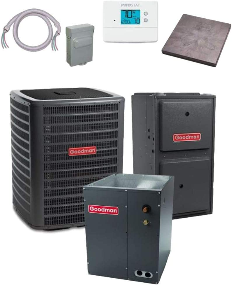 Goodman 4 Max 45% OFF TON Deluxe 16 SEER GSXC160481 CAPF496 Air Conditioner bundle
